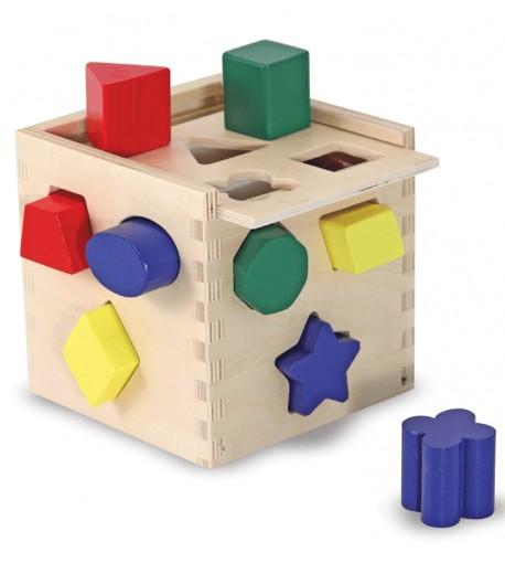 Cubo con formas de colores