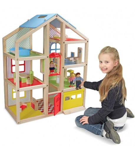 Casa de muñecas de 3 plantas completa