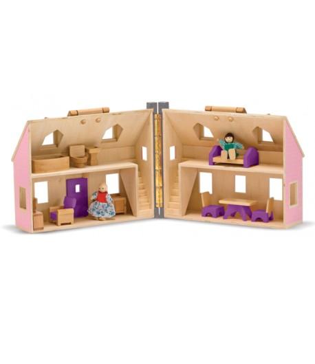 Casa de muñecas de viaje