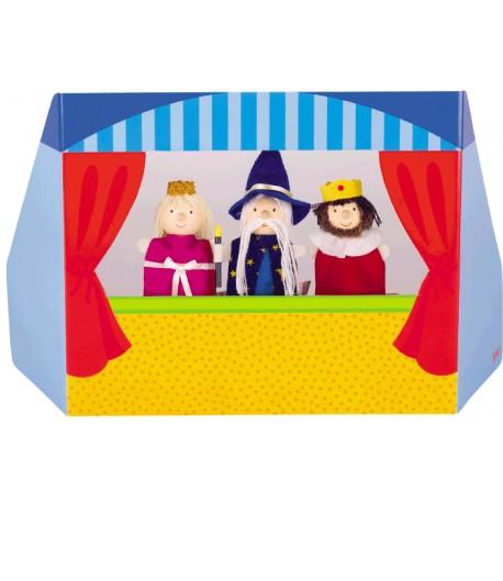 Teatro pequeño para marionetas de dedo