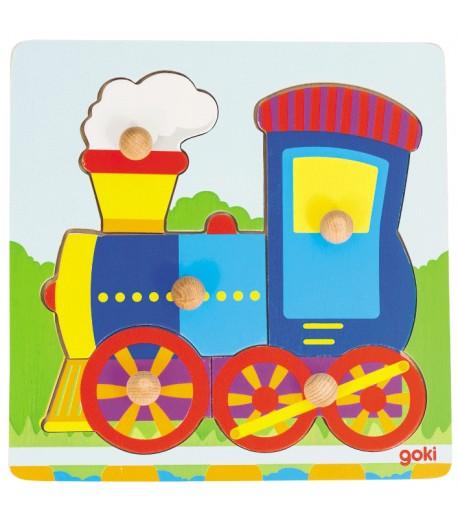 Puzzle de encaje locomotora