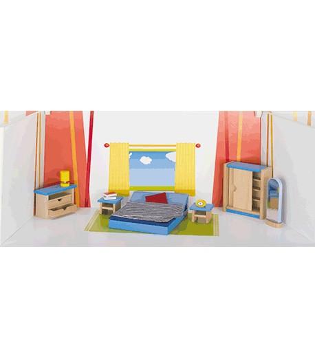 Muebles dormitorio principal. Casa de muñecas
