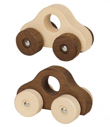 Cochecito de madera natural