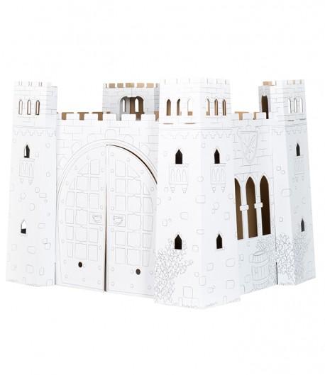Castillo fortificado de cartón