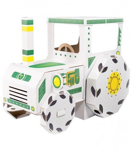 Tractor de cartón