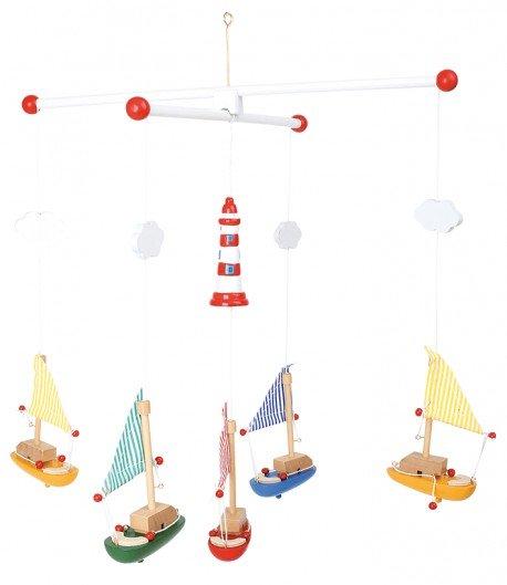 Móvil veleros con faro