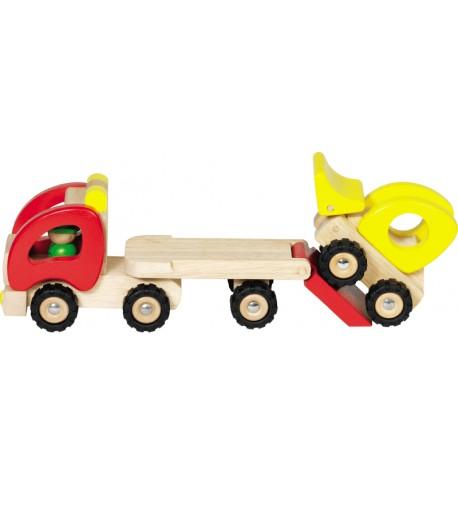 Camión remolque con pala cargadora