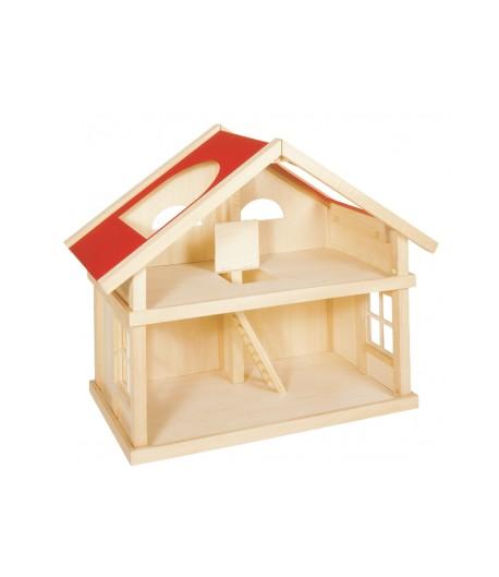 Comprar casa de muñecas de madera de dos plantas