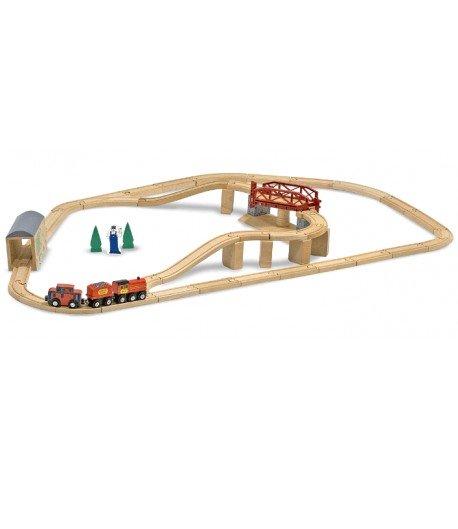 Juego de trenes con puente giratorio