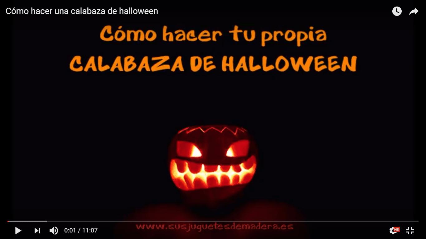 youtube como hacer una calabaza de halloween